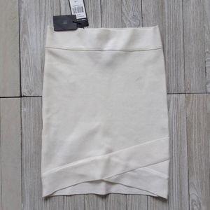 "BCBG SZ XS Bandage Skirt ""SILVIE"" Gardenia NWT"